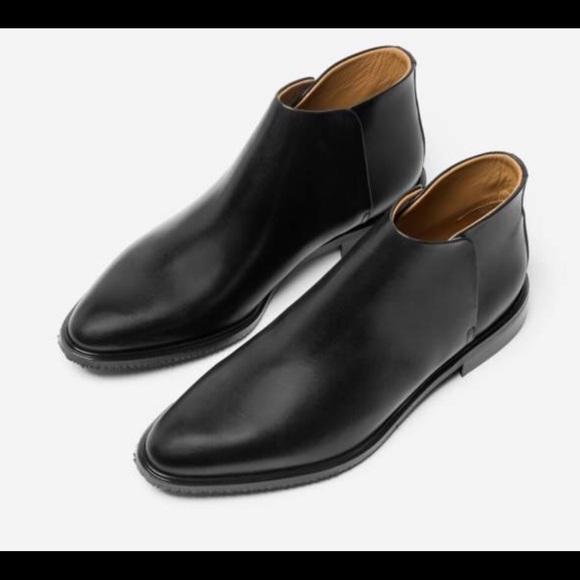 Everlane Shoes Black Italian Leather Modern Ankle Boots Poshmark